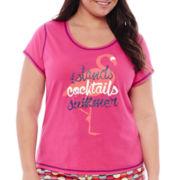 Sleep Chic® Knit Sleep Shorts - Plus