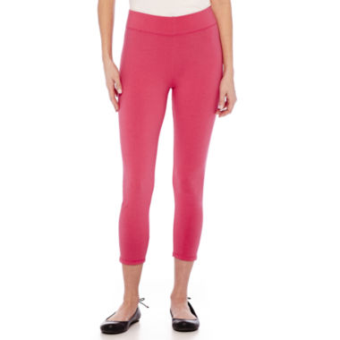 jcpenney.com | Mixit™ Solid Knit Cropped Leggings - Tall