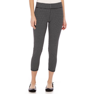 jcpenney.com | Mixit™ Print Knit Cropped Leggings - Tall