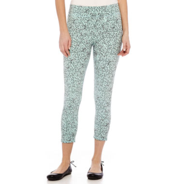 jcpenney.com | Mixit™ Print Knit Cropped Leggings - Petite