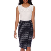 Liz Claiborne® 3D Floral Tank Top or Fringe Wrap Midi Skirt - Tall