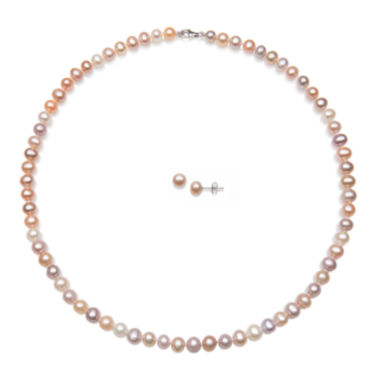 jcpenney.com | Multicolor Cultured Freshwater Pearl 2-pc. Set