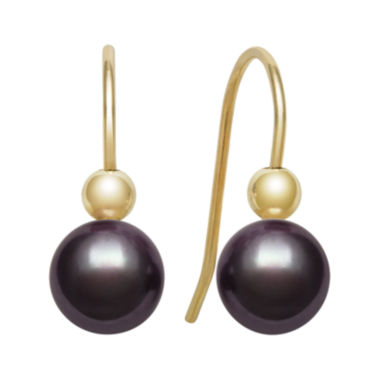 jcpenney.com | 14K Yellow Gold Black Freshwater Pearl Earrings