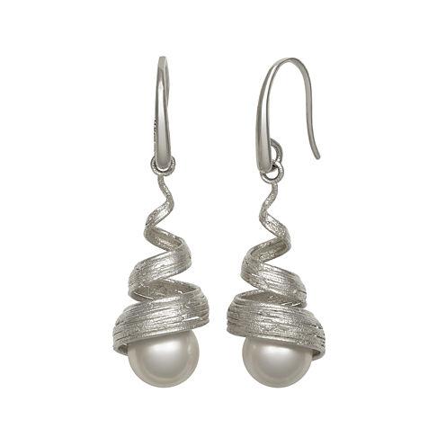 Cultured Freshwater Pearl Sterling Silver Earrings