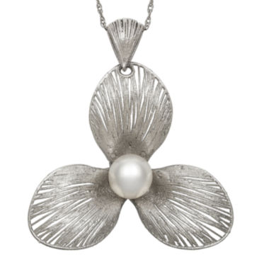 jcpenney.com | Cultured Freshwater Pearl Sterling Silver Flower Pendant Necklace