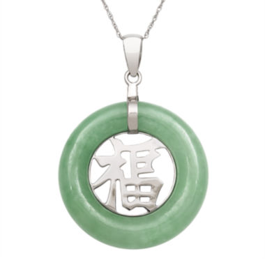jcpenney.com | Genuine Jade Sterling Silver Pendant Necklace