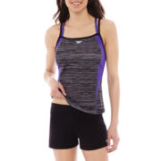Speedo Endurance+ Texture Double Strap Tankini Swim Top or Swim Shorts