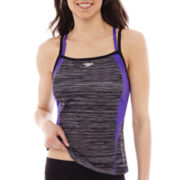 Speedo Endurance+ Texture Double Strap Tankini Swim Top