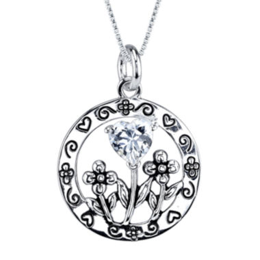 jcpenney.com | Inspired Moments™ Cubic Zirconia Sterling Silver Daughter Pendant