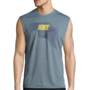 Nike® Current Logo Sleeveless Swim Tee