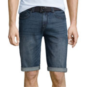 UNIONBAY® Wilder Stretch Belted Denim Shorts