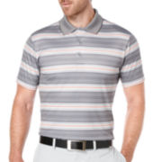 PGA TOUR® Short-Sleeve Diffused Ombre Stripe Polo