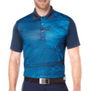 PGA TOUR® Short-Sleeve Nature-Printed Polo
