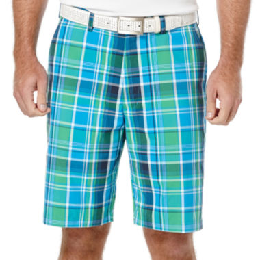 jcpenney.com | PGA TOUR® Plaid Flat-Front Shorts