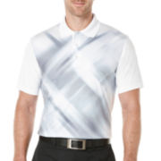 PGA TOUR® Short-Sleeve Diffused Argyle Printed Polo