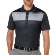 PGA TOUR® Short-Sleeve Chest-Stripe Polo Shirt