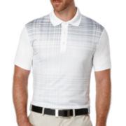 PGA TOUR® Short-Sleeve Fading-Plaid Polo Shirt
