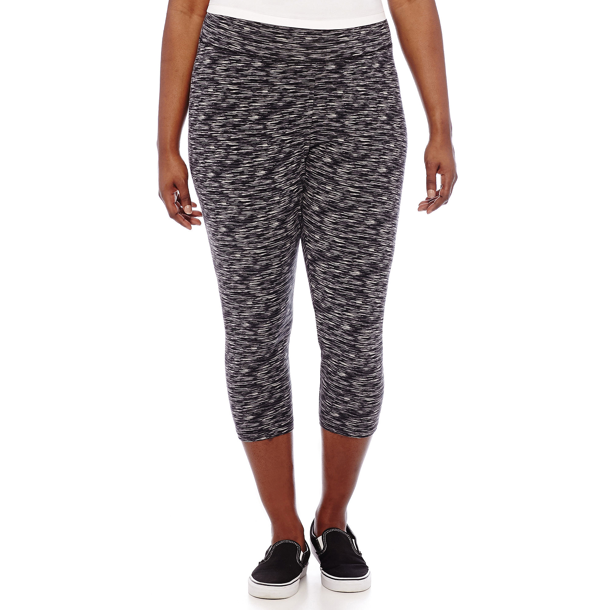 City Streets Print Cropped Yoga Pants - Juniors Plus plus size,  plus size fashion plus size appare