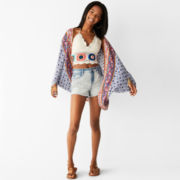Arizona Long-Sleeve Kimono Top or Halter Top or High-Rise Wave Shorts