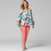 Worthington® Cold-Shoulder Blouse or Ankle Pants - Plus