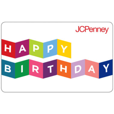jcpenney.com | $10 Happy Birthday Banner Gift Card