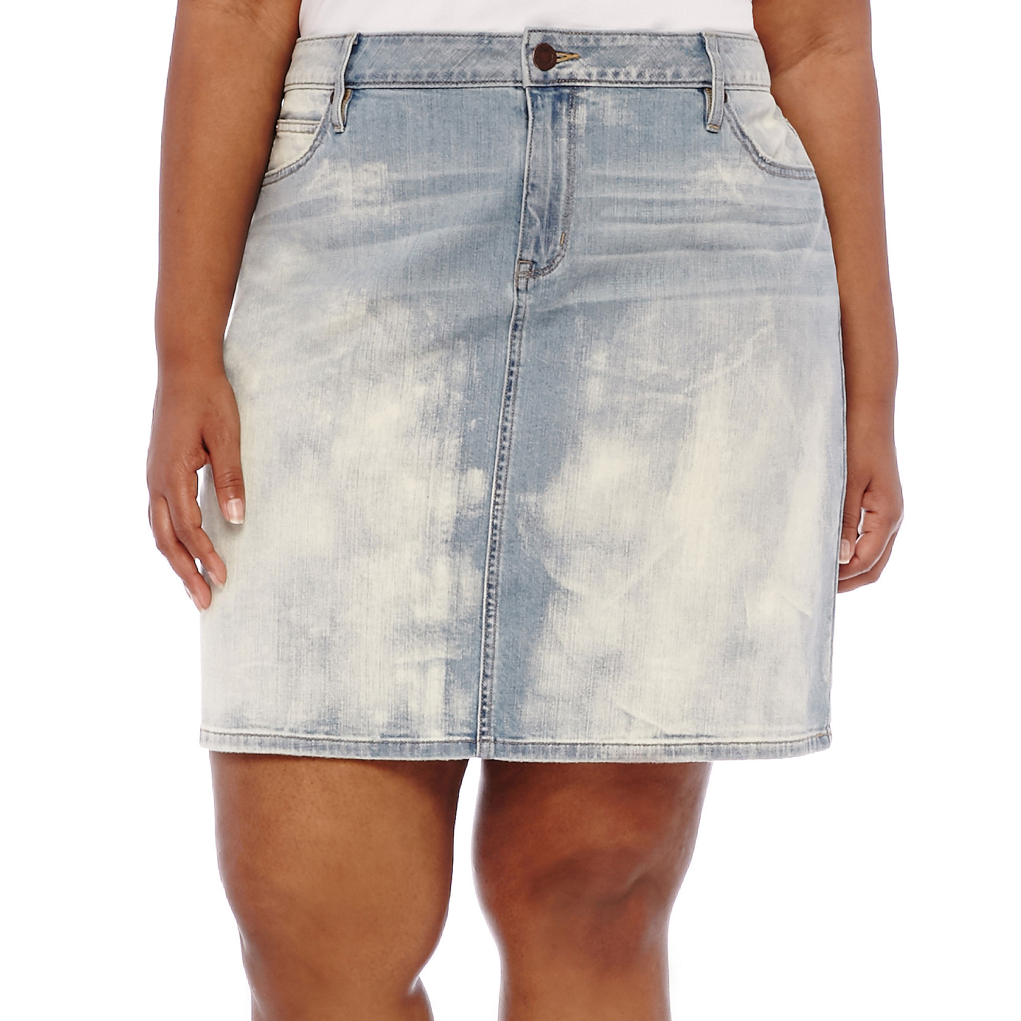 a.n.a 5-Pocket Denim Skirt - Plus plus size,  plus size fashion plus size appare