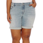 a.n.a® Roll-Cuff Bermuda Denim Shorts - Plus