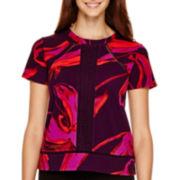 Worthington® Short-Sleeve Textured Blouse