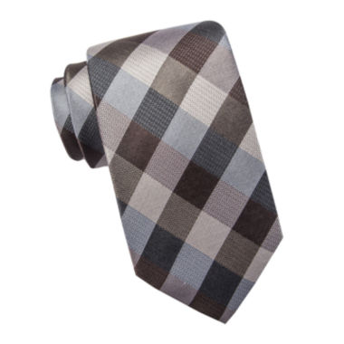 jcpenney.com | Collection by Michael Strahan Exploded Gingham Silk Tie