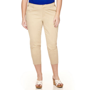 jcpenney.com | Stylus™ Twill Cropped Pants - Plus