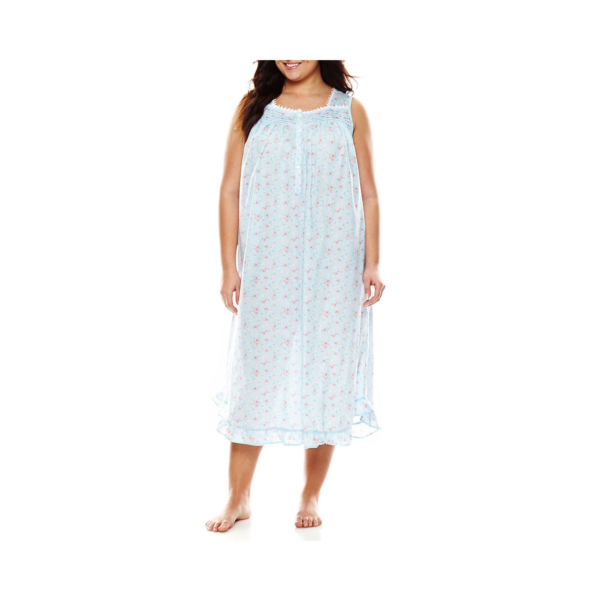 Adonna Woven Sleeveless Nightgown - Plus plus size,  plus size fashion plus size appare