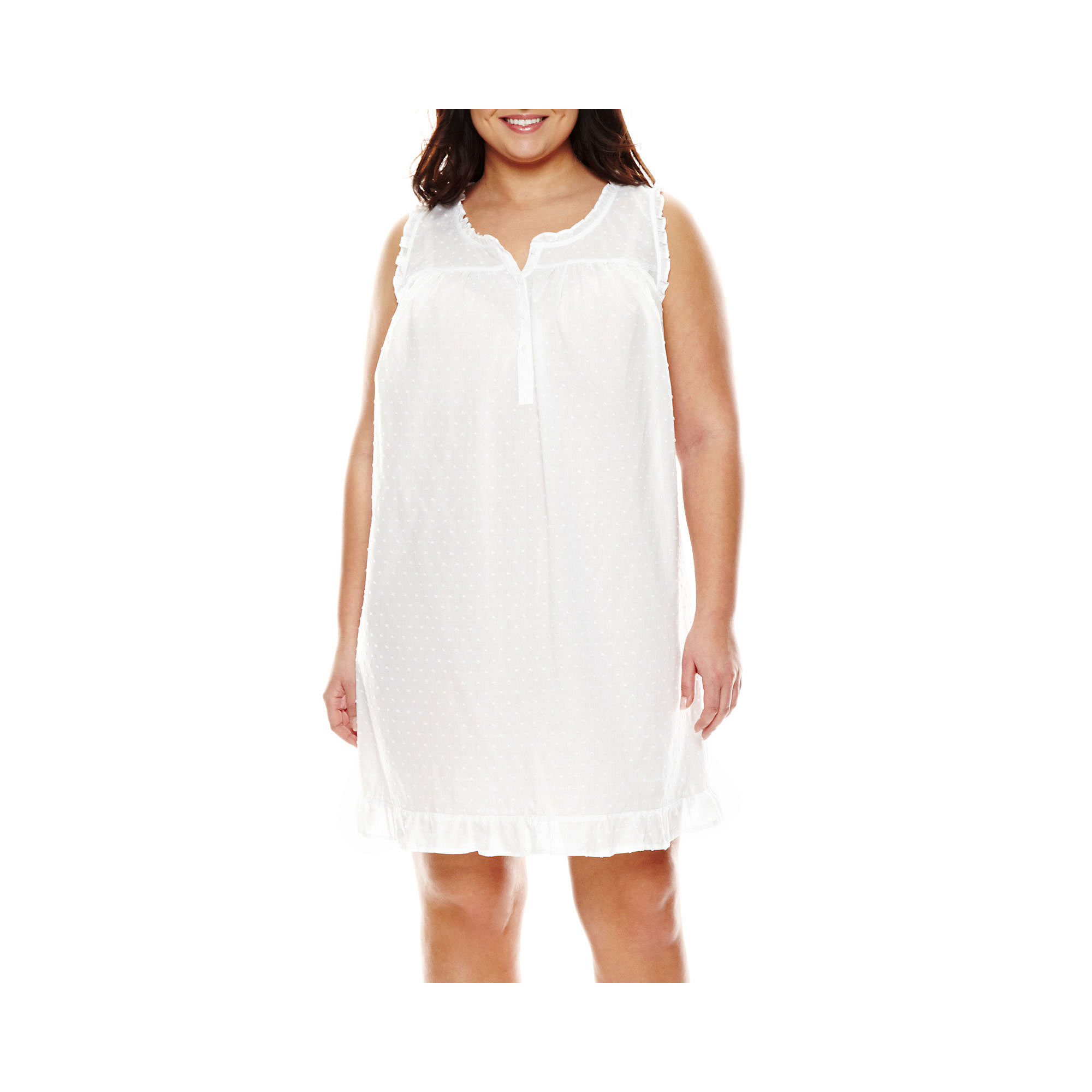 Adonna Sleeveless Short Nightgown - Plus plus size,  plus size fashion plus size appare