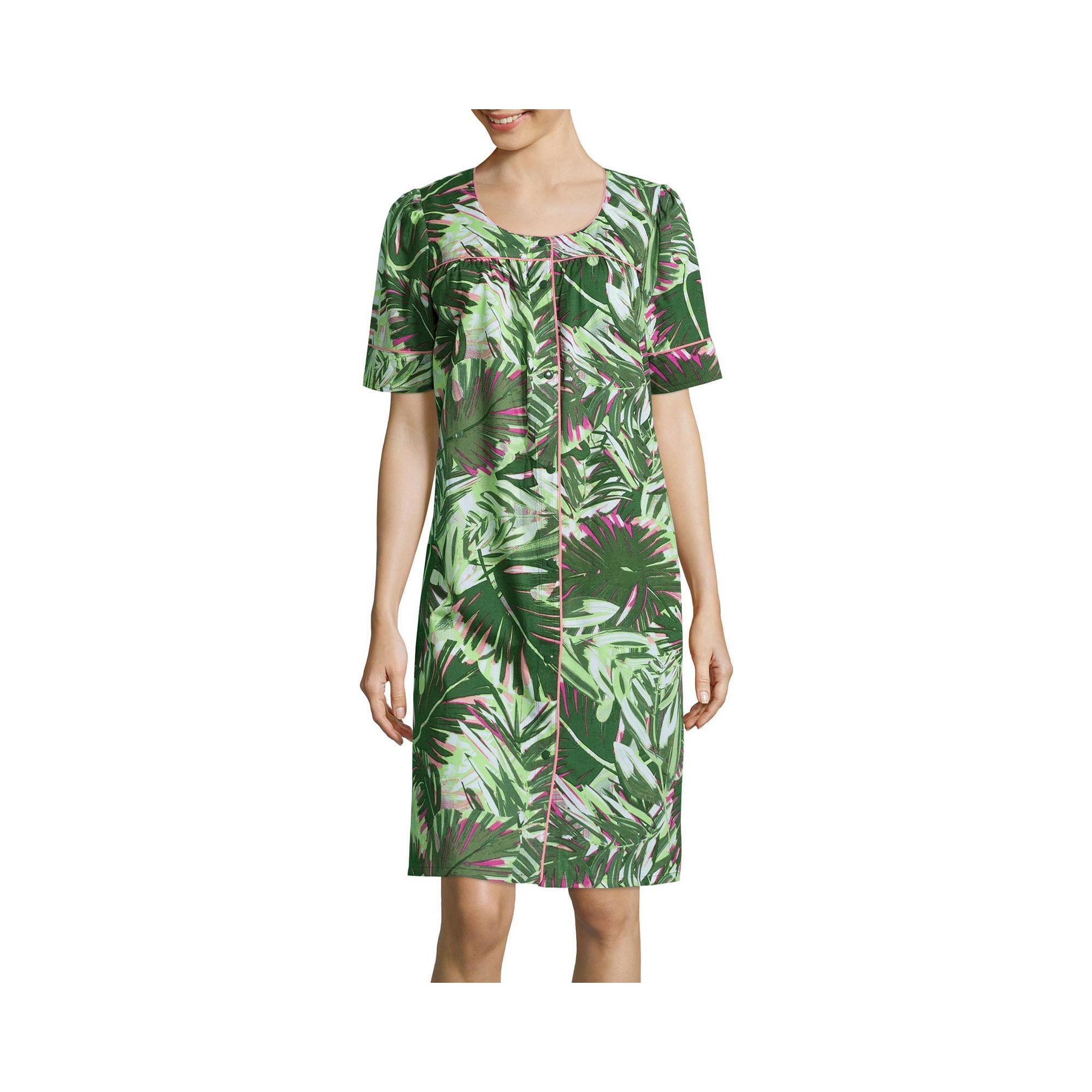 Adonna Short-Sleeve Snap-Front Caftan plus size,  plus size fashion plus size appare