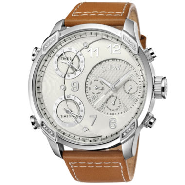 jcpenney.com | JBW The G4 Mens Diamond-Accent Light Brown Leather Strap Watch J6248LM