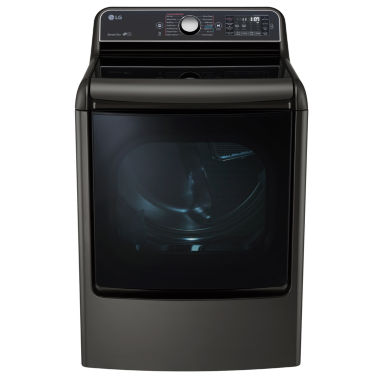 jcpenney.com | LG 9.0 cu.ft. Mega Capacity TurboSteam® Dryer with EasyLoad™ Door