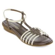 St. John's Bay® Bobbie Flat Sandals