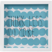 Umbra® Think Less Shadowbox Wall Decor
