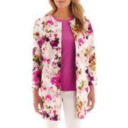 Liz Claiborne® 3/4-Length Floral Jacket