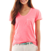 jcp™ Boyfriend Pocket Tee