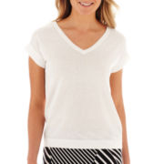 Liz Claiborne® Short-Sleeve Sweater