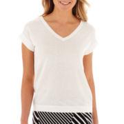 Liz Claiborne® Short-Sleeve Sweater