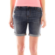 jcp Boyfriend Denim Bermuda Shorts
