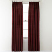 Royal Velvet® Elegance Ring-Top Pinch-Pleat Curtain Panel