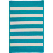 Bayside Reversible Braided Stripe Indoor/Outdoor Rectangular Rug