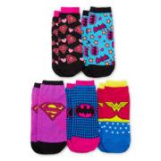 5-pk. Supergirl Low Cut Socks