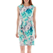 Studio 1® Sleeveless Watercolor Floral Print Sheath Dress