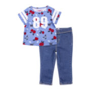 Lee® Graphic Tee and Jeggings Set - Toddler Girls 2t-4t