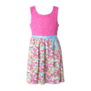 Pinky Knit Lace Butterfly Dress - Preschool Girls 4-6x