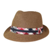 Arizona Plaid Straw Fedora