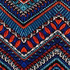 Blue Red Tribal